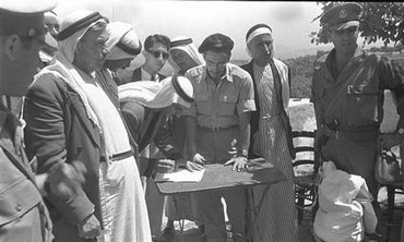 Umm el-Fahm leaders sign declarations of allegiance to Israel on May 20, 1949