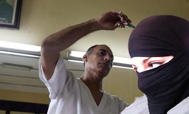 Saudi barber