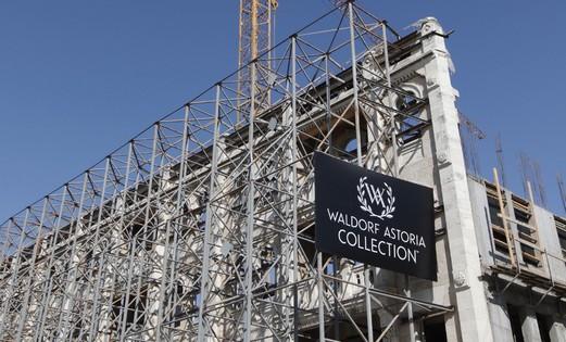 The Waldorf Astoria under construction.