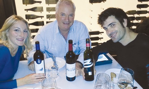 The Israeli Montefiores – from left, Rachel, Adam and David – and the wines they represent.