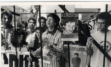 Hunger strike on behalf of Prisoner of Zion Alexei Amagarik, 1987