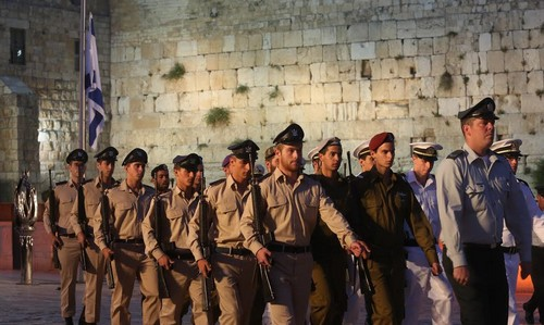 Remembrance Day at the Western Wall, May 4, 2014.