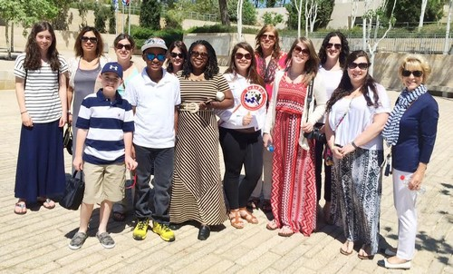 US delegation of widows and Orphans at Yad Vashem