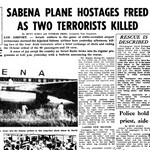 Sabena plane hostages freed