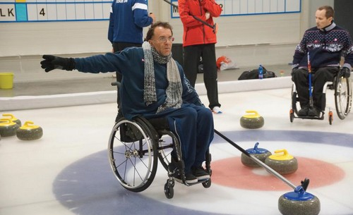 Israeli wheelchair curlers