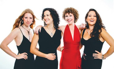 THE JAMMIN DIVAS: (left to right) Kath Buckell, Hadar Noiberg, Aoife Clancy and Nicole Zuraiti