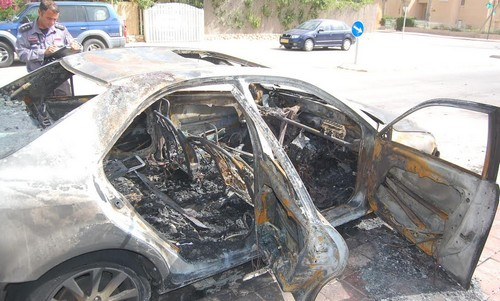 Beersheba car fire