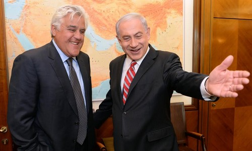 PM Netanyahu meets with Jay Leno