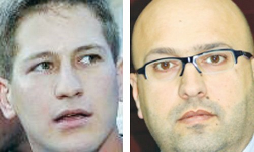 Tal Harris (L) and Samer Makhlouf.