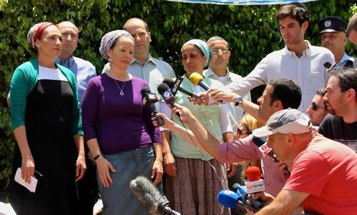 Bat-Galim Shaer, Rachel Fraenkel, Iris Yifrach in Nof Ayalon.