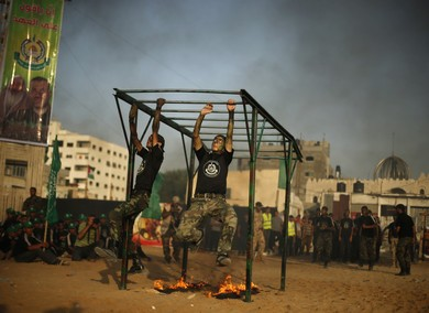 Hamas camp in Gaza