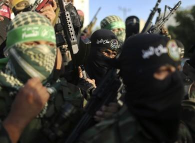 Palestinian militants in Gaza