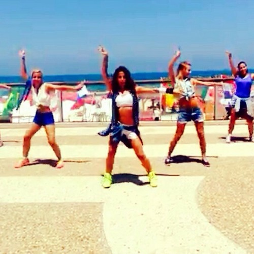 Tel Avivian Zumba dancers
