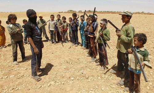 syrian rebel boys