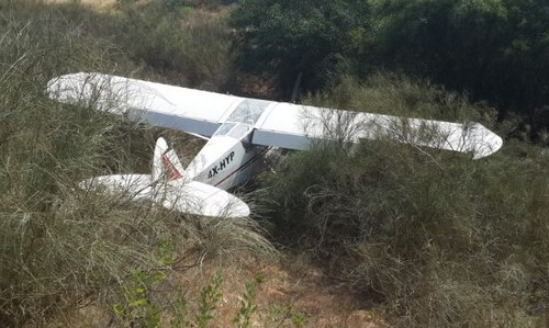 Light plane crash, July 6, 2014