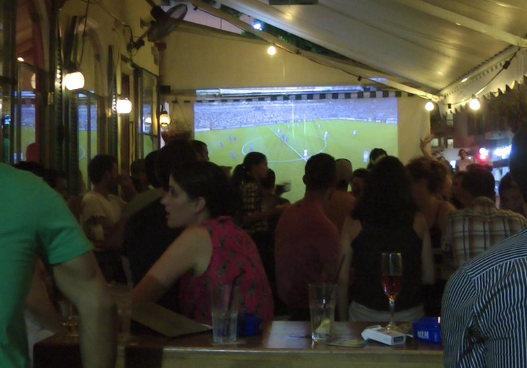 Tel Avivians celebrate World Cup