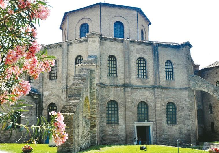 THE SAN VITALE Basilica in Ravenna.