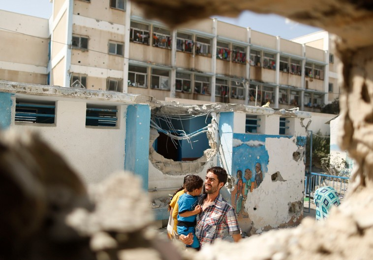 UNRWA school damaged by fighting in Gaza. - Photo: REUTERS