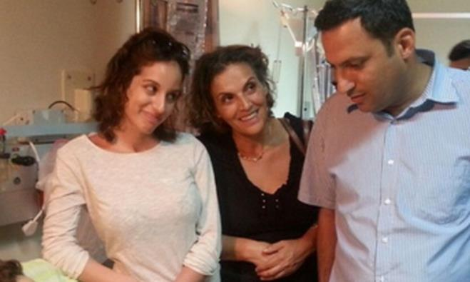Sderot Mayor Alon Davidi visits wounded in hospital