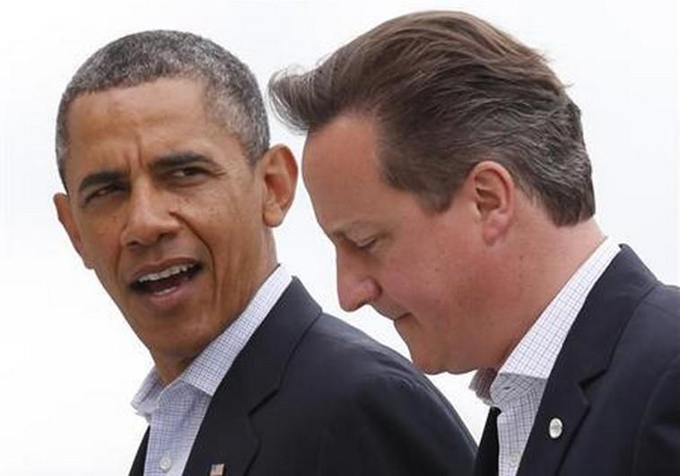 Obama and Cameron.