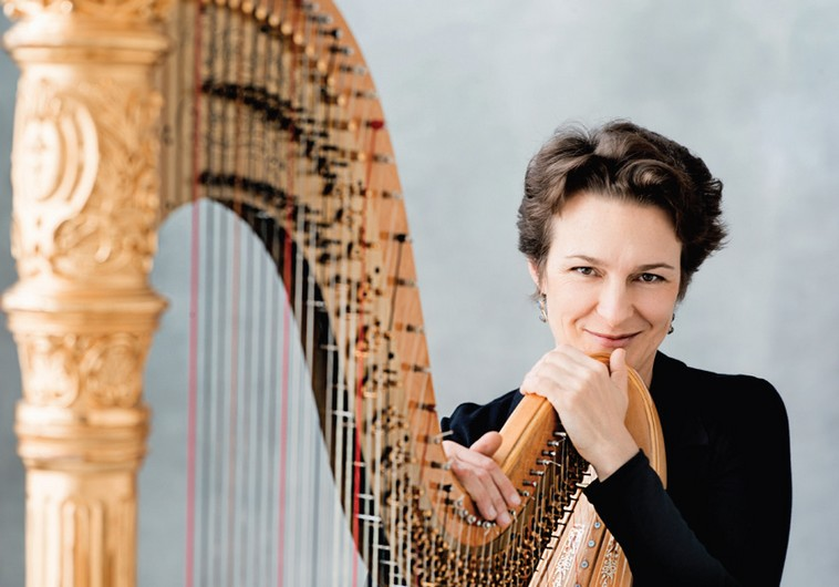 Harpist Marie-Pierre Langlamet at the Jerusalem Chamber Music Festival