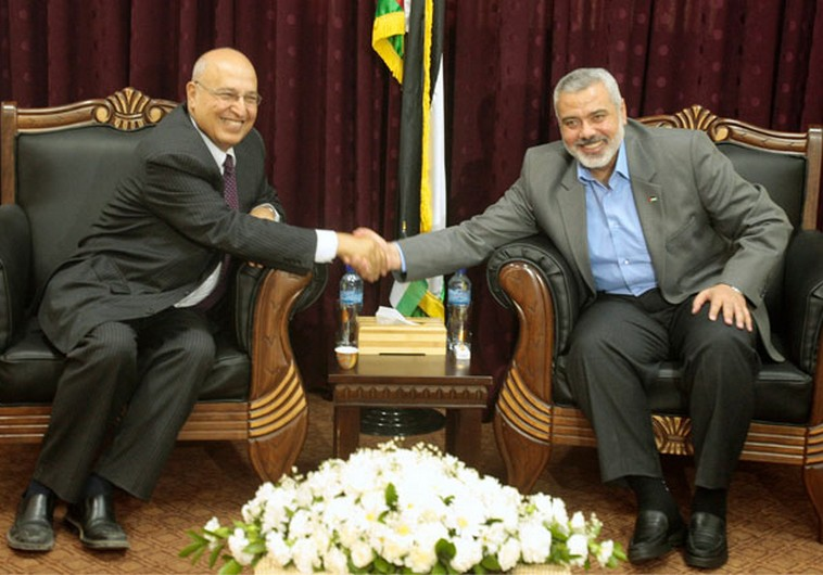 Nabil Shaath and Ismail Haniyeh.