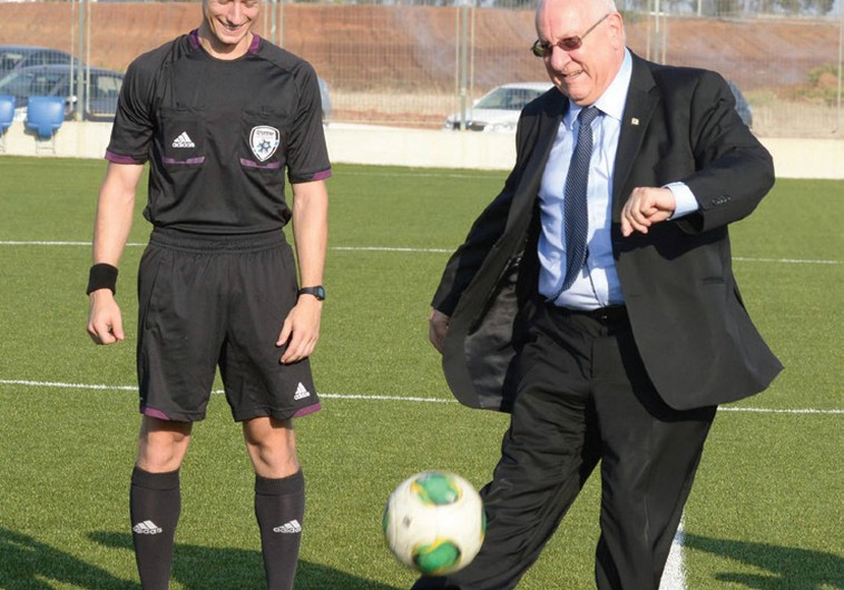 PRESIDENT REUVEN RIVLIN is on the ball.