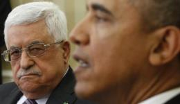 Palestinian Authority President Mahmoud Abbas and US President Barack Obama, March 2014.