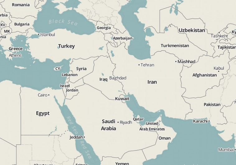 Middle East Map With Names Map of Middle East
