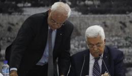 Mahmoud Abbas and Saeb Erekat