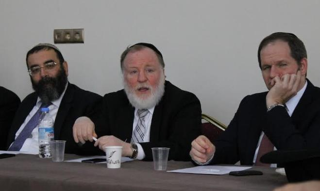 Rabbi Baksht of Odessa addresses members of the CER in Tbilisi Tuesday