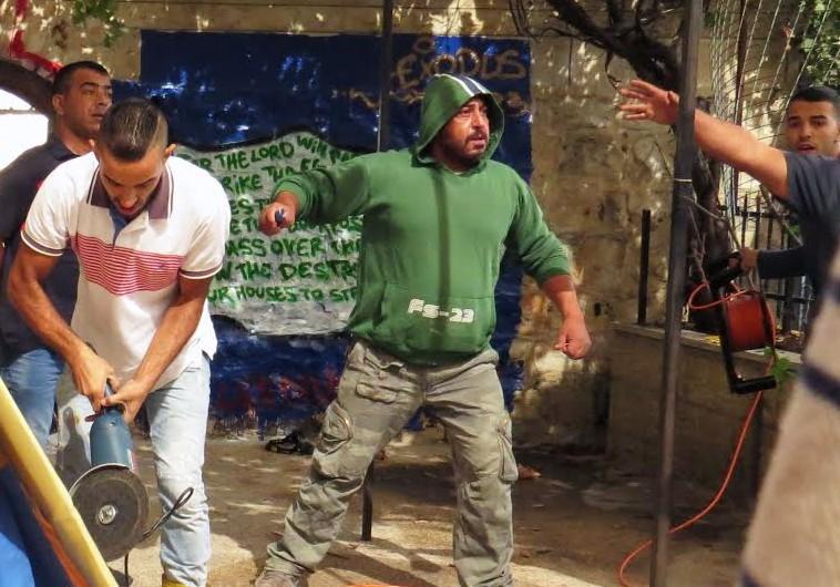 Vandals at the Living Bread International Church in east Jerusalem on October 16.