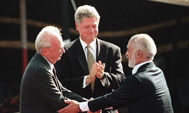 Yitzhak Rabin, Bill Clinton, and King Hussein