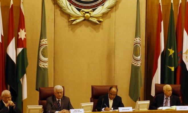 Foreign ministers of the Arab League take part in an emergency meeting at the league