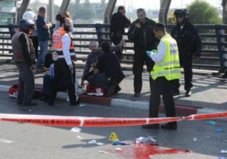 Scene of Tel Aviv stabbing