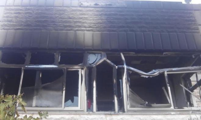 Palestinian house torched