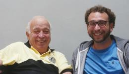 Seymour Stein (left)with Oleh Records director Jeremy Hulsh.