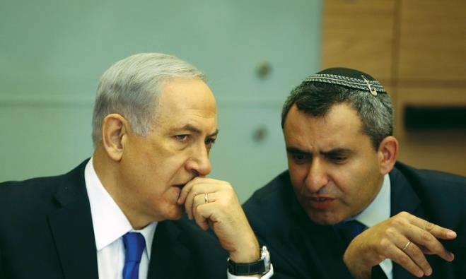 Prime Minister Benjamin Netanyahu and  Foreign Affairs and Defense committee chair Zeev Elkin