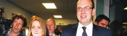Mark Reckless and his wife Catriona Brown