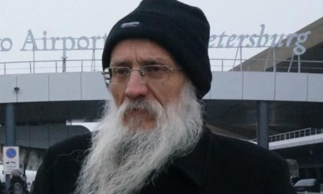 Rabbi Yosef Mendelevitch at St. Petersburg's Pulkovo Airport, Nov. 30, 2014