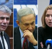 Netanyahu Livni and Lapid