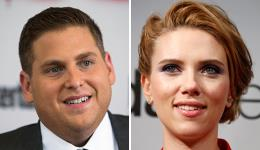 Jonah Hill and Scarlett Johansson