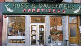 RUSS AND DAUGHTERS still going strong on the Lower East Side of Manhattan.