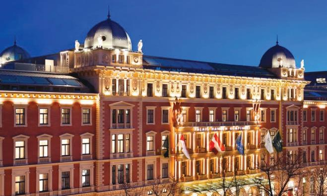 THE FACADE of the Hotel Palais Hansen Kempinski in Vienna.