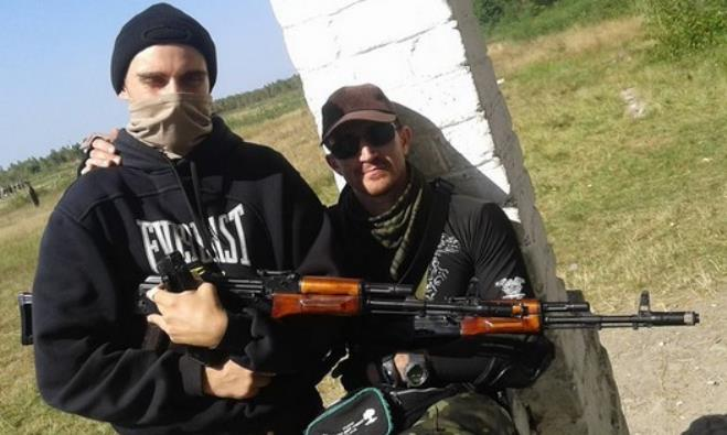 Tzvi Arieli (R) hopes to establish a quick response Jewish defense force in Mariupol, Ukraine.