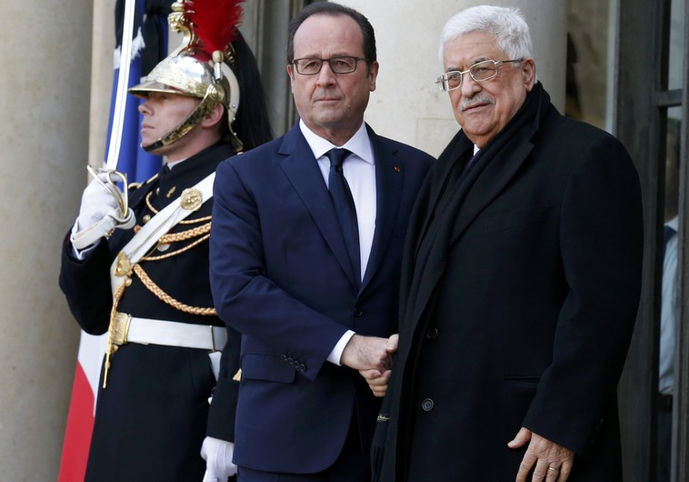 Francois Hollande Mahmoud Abbas