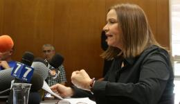 Labor Party MK Shelly Yacimovich during a committee session at the Knesset