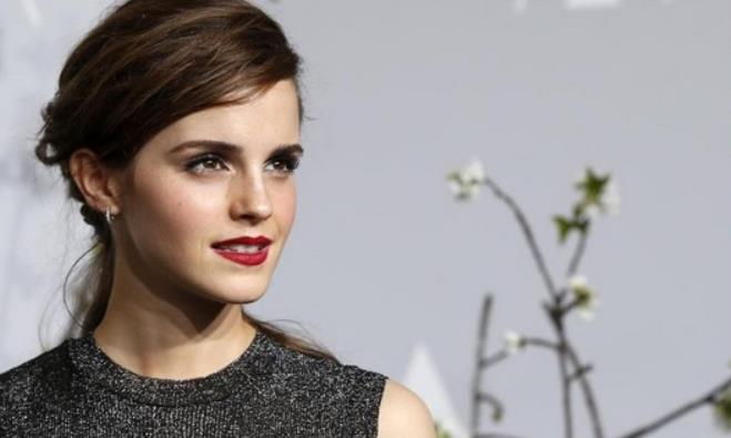 Actress Emma Watson is seen on the red carpet