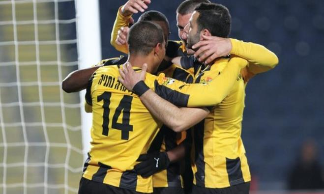 Beitar Jerusalem players celebrating a goal