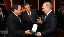 President Sisi and President Putin in Cairo, February 9, 2015